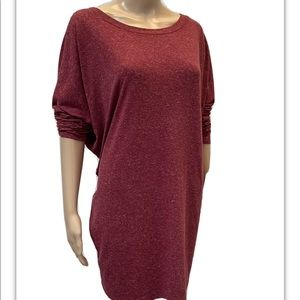 Silence + Noise, Long Sleeve, Red Tunic Top. Large